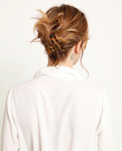 Pince à cheveux marron
