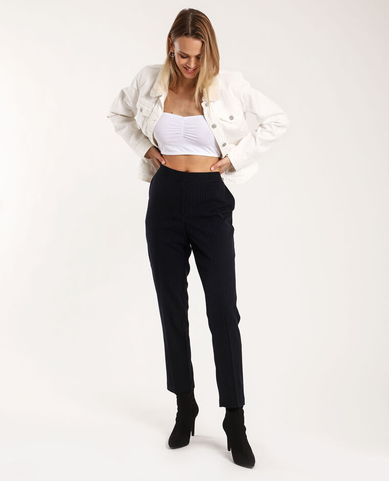 Pantalon à rayures bleu - Pimkie