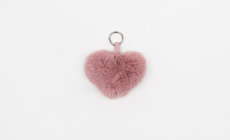 Porte-clés cœur rose