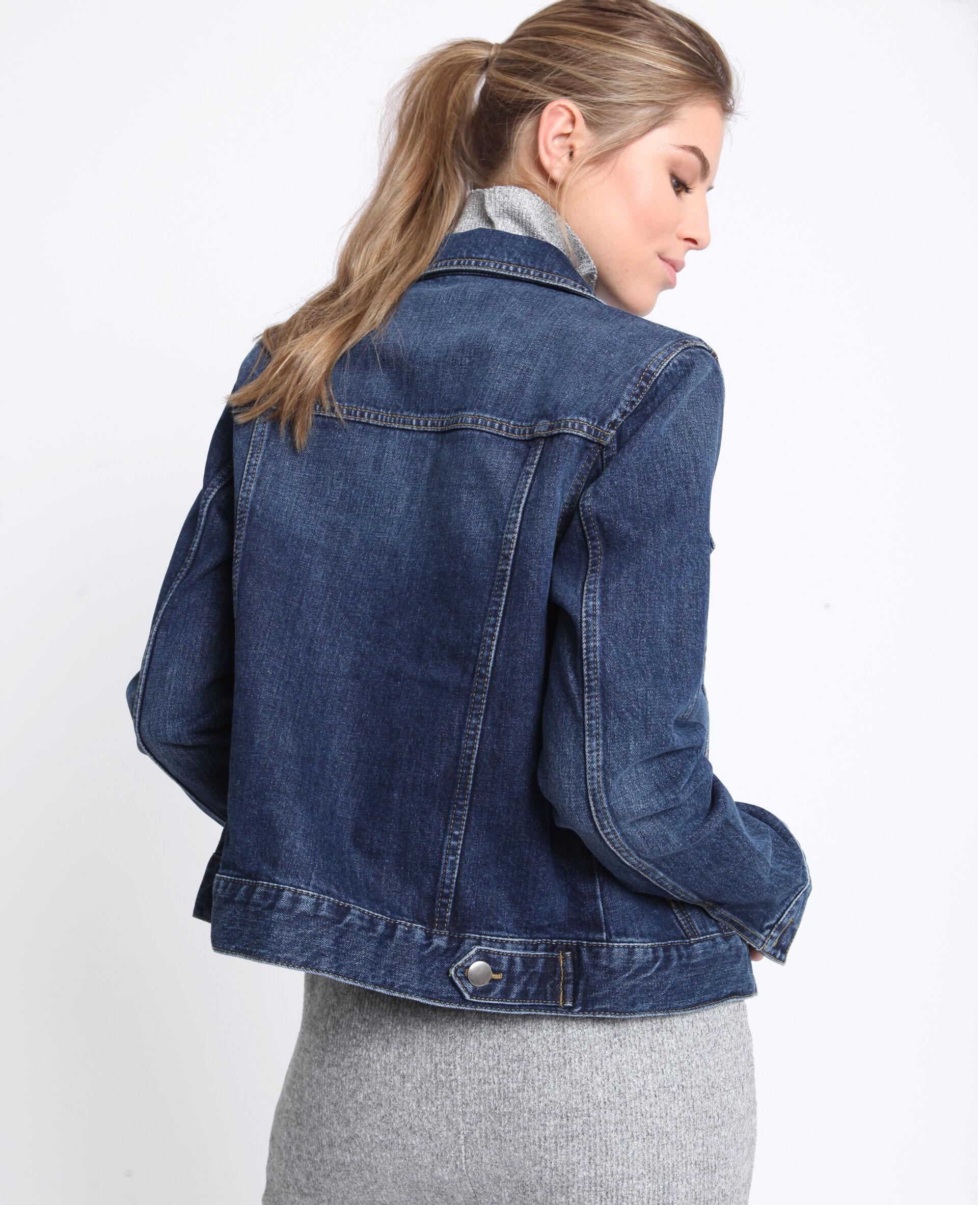 Veste en jeans bordeaux