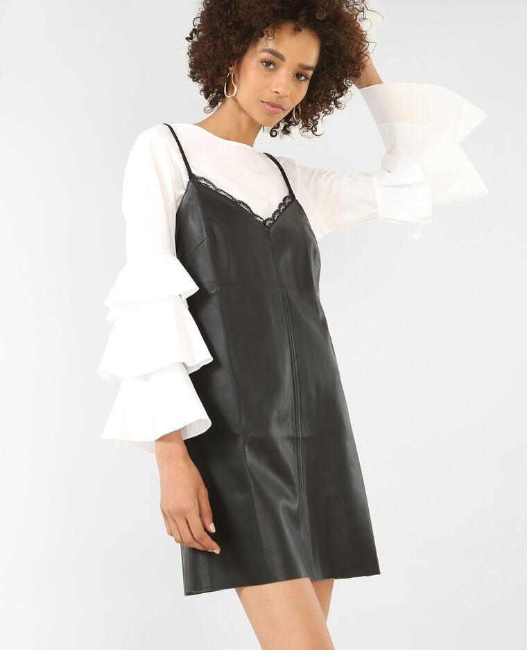 e62d163a627 Robe en simili cuir noir - 780746899A08
