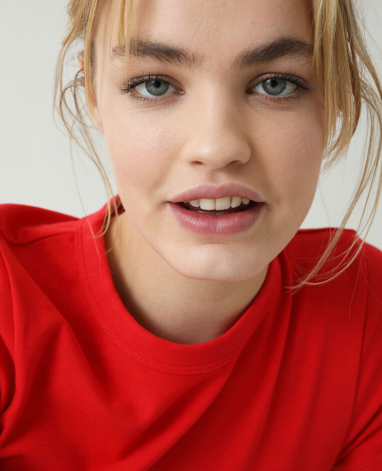 T-shirt basique rouge