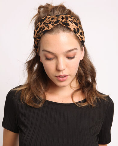 Headband léopard marron
