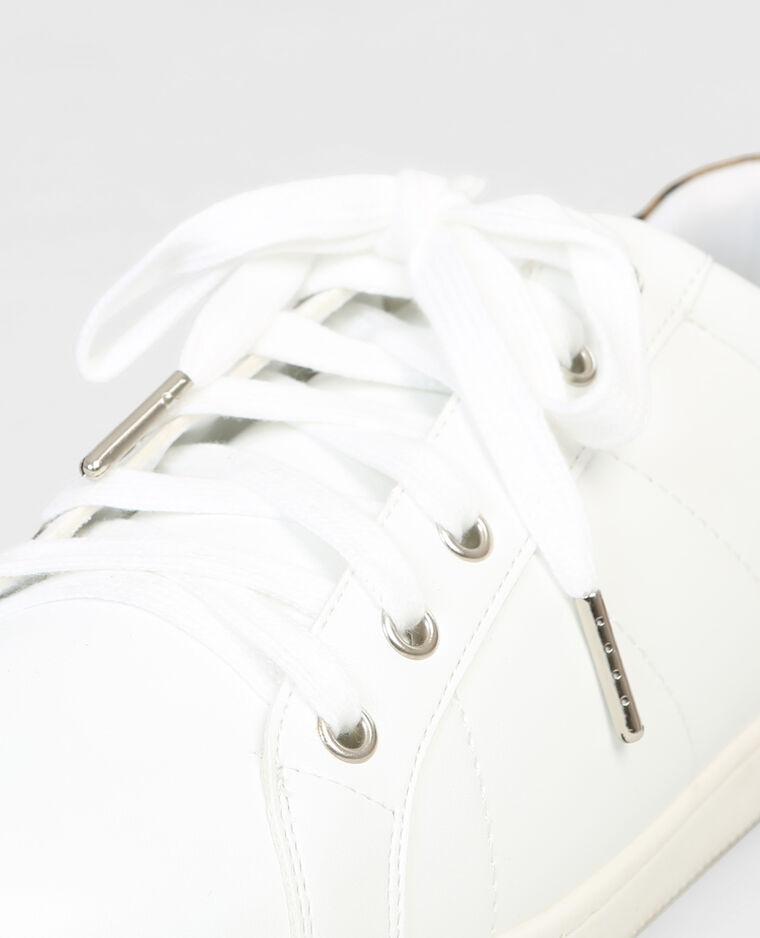 Baskets bande léopard blanc