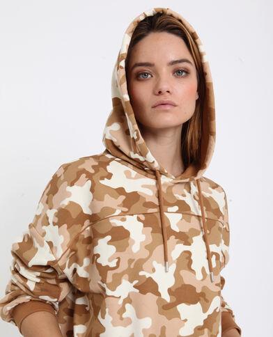 Sweat camouflage brun