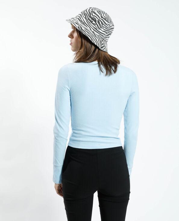 T-shirt doux bleu - Pimkie
