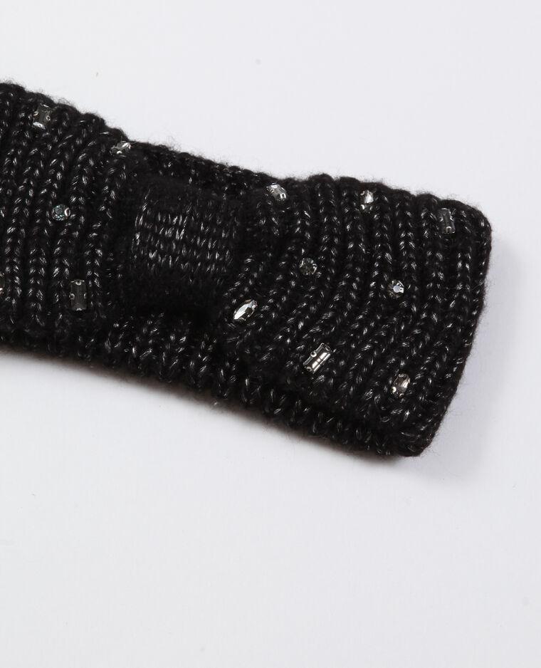 Headband à strass noir