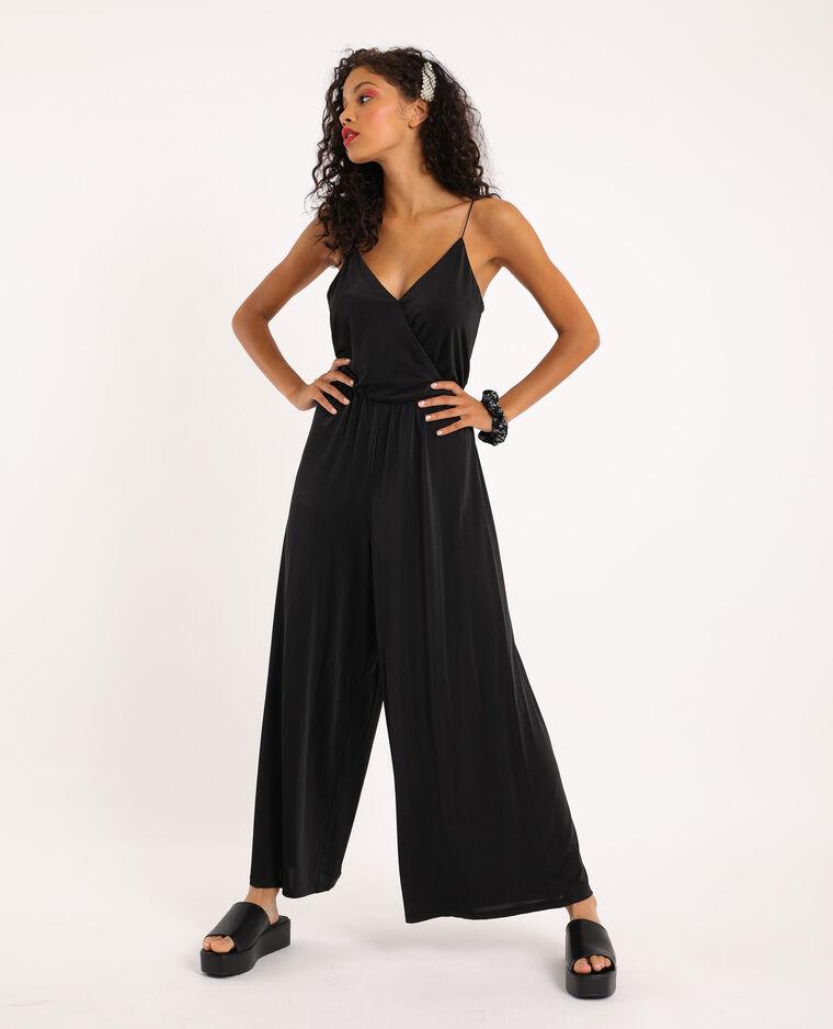 Combi-pantalon fines bretelles noir - Pimkie