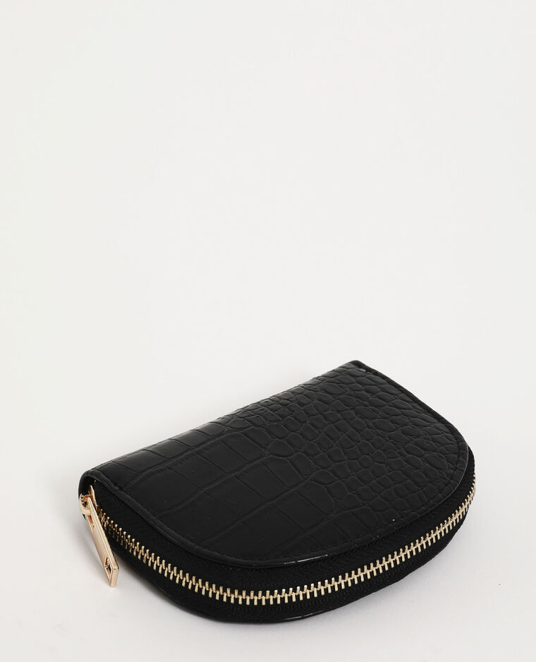 Porte-monnaie croco noir