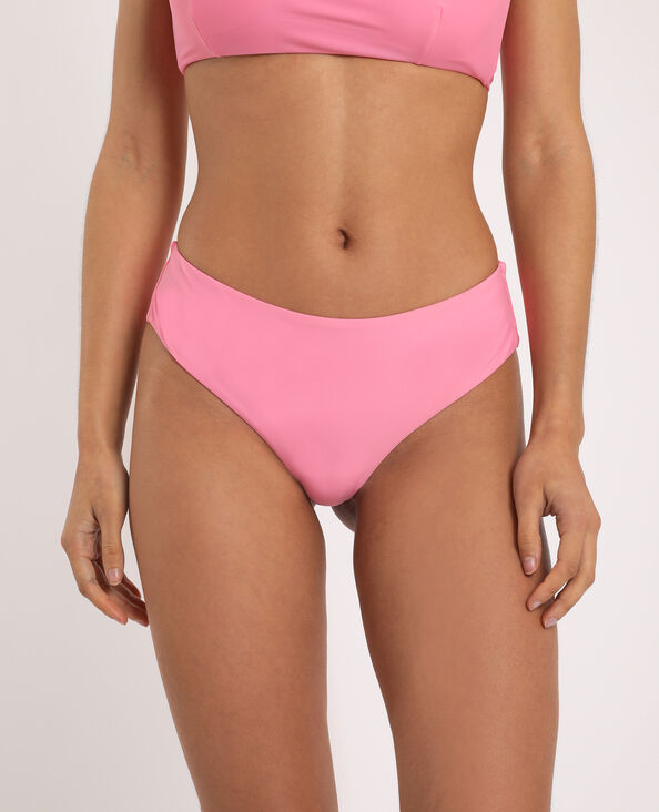Bas de bikini tanga rose fluo
