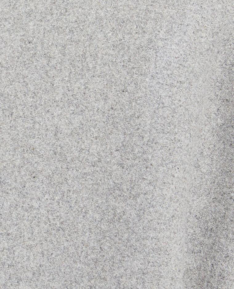 Manteau droit gris chiné - Pimkie