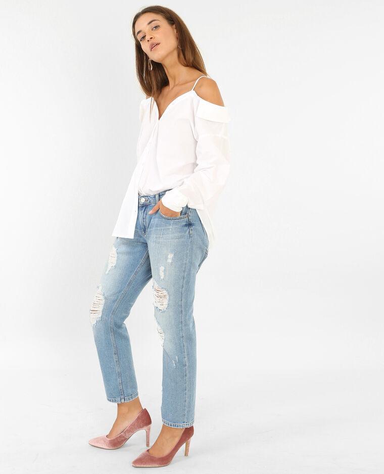 Chemise à épaules dénudées blanc - Pimkie