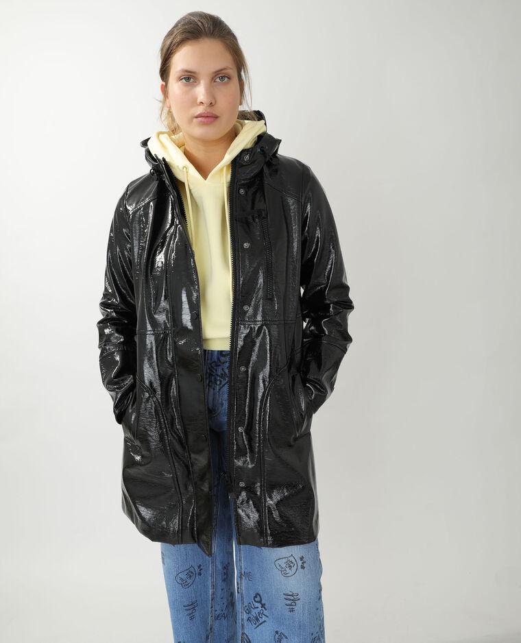 Manteau ciré noir - Pimkie