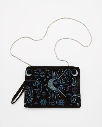 Pochette velours perles noir - Pimkie