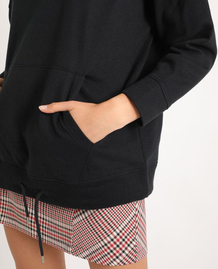 Sweat à capuche oversized noir - Pimkie