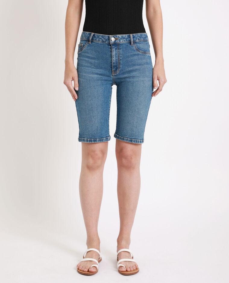 Bermuda en jean bleu denim