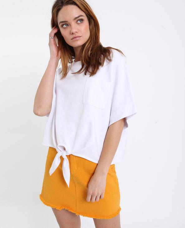 T-shirt à nouer blanc
