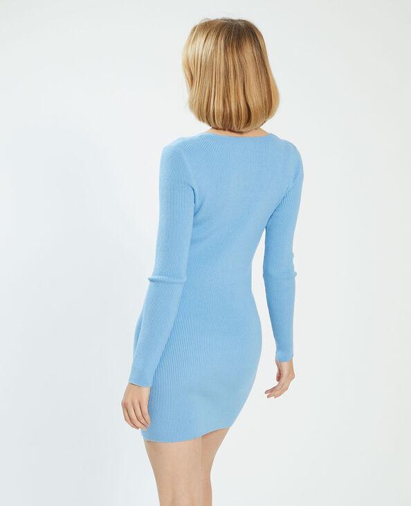Robe pull côtelée bleu - Pimkie