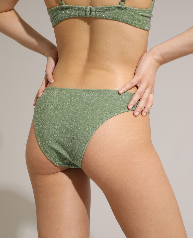 Bas de maillot de bain culotte pailleté vert - Pimkie
