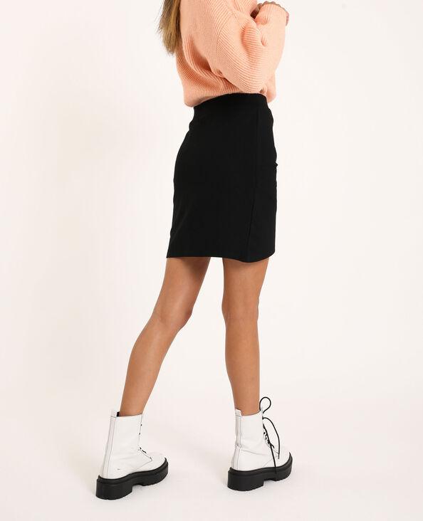 Jupe courte drapée noir