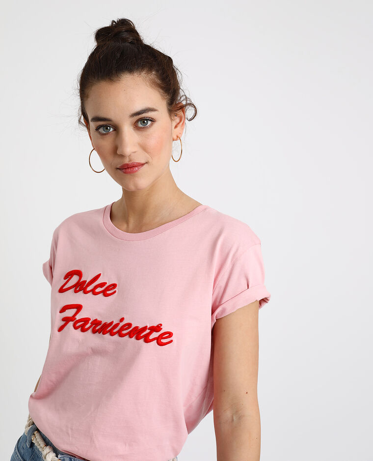 T-shirt Dolce Farniente rose