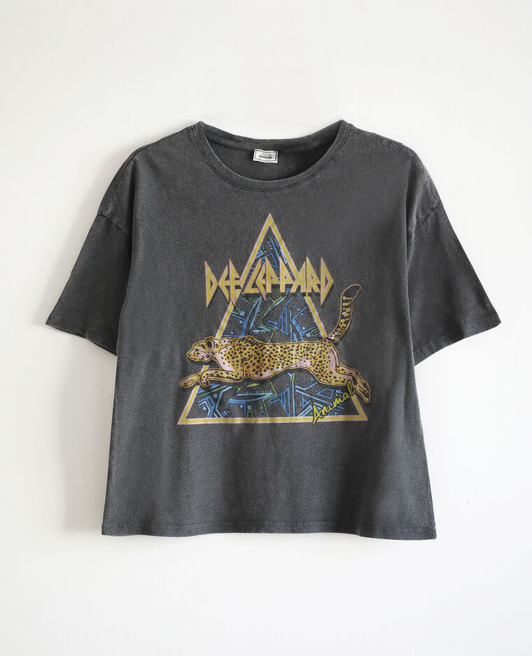 T-shirt Def Leppard gris anthracite