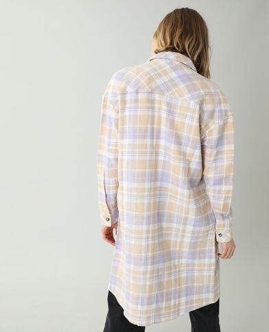 Chemise longue oversize beige - Pimkie