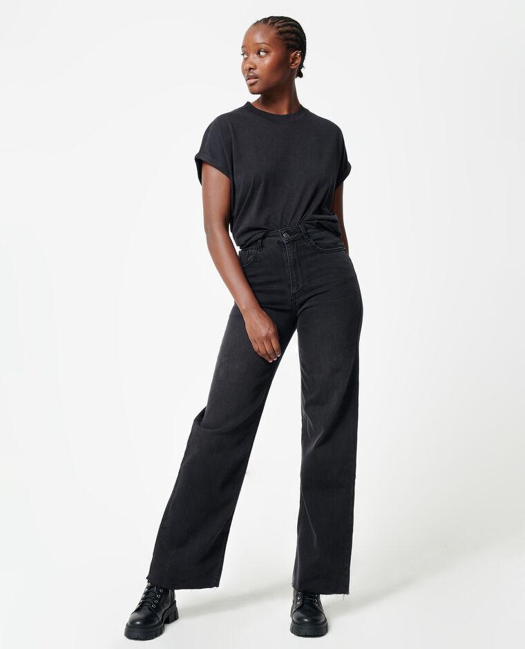 Jean straight taille haute noir - Pimkie