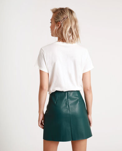 T-shirt brodé blanc cassé - Pimkie