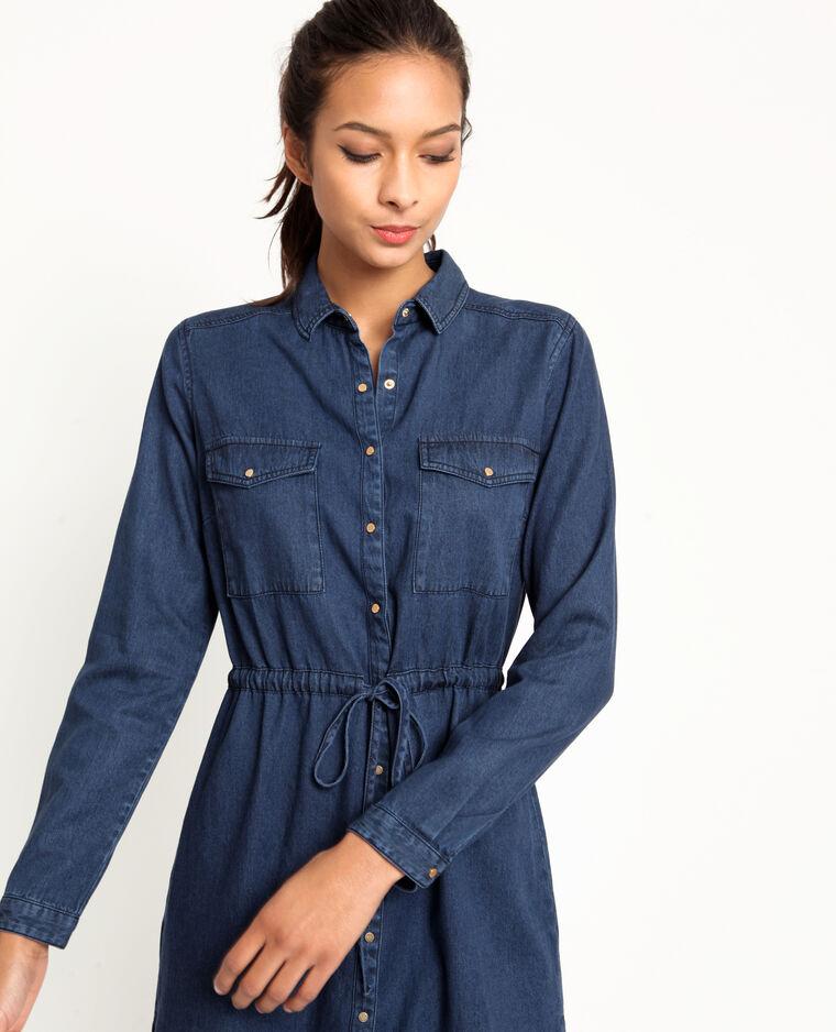 Robe en jean bleu marine