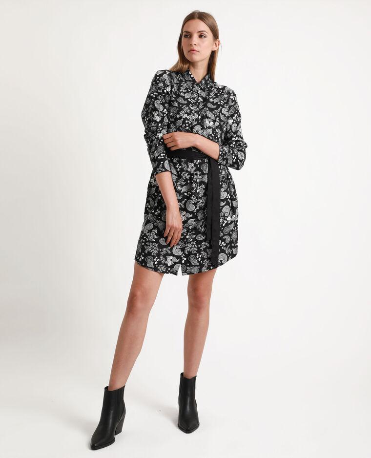 Robe-chemise fluide noir