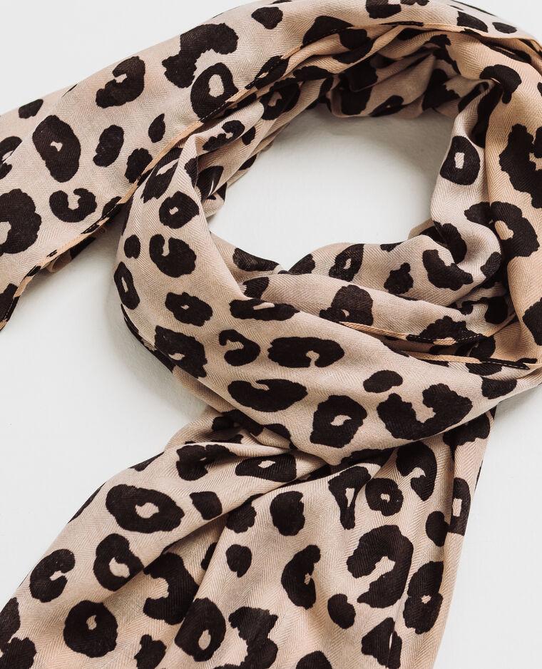 Foulard léopard noir