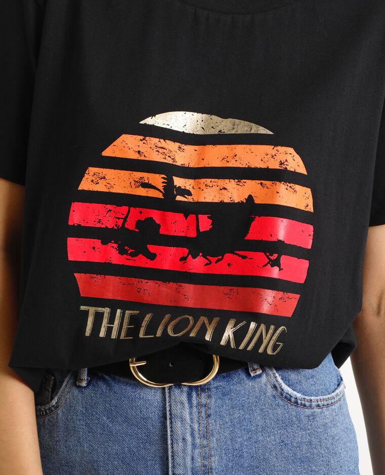 T-shirt Le Roi Lion noir