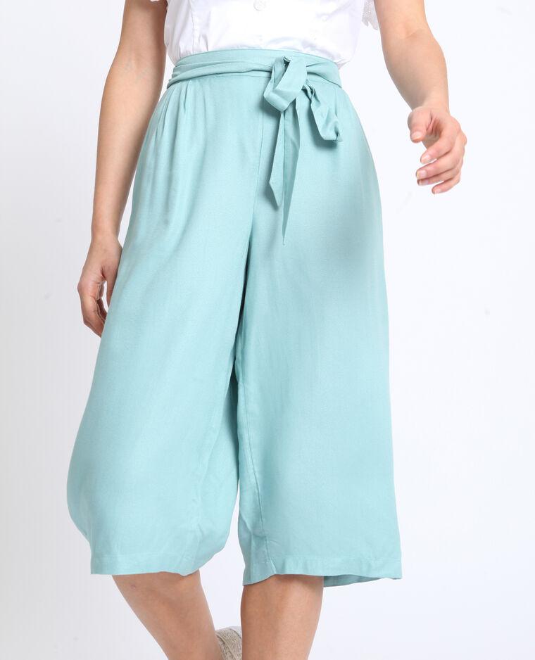 Jupe culotte fluide vert d'eau