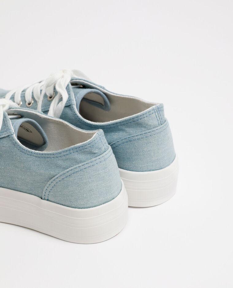 Baskets à semelle épaisse bleu denim