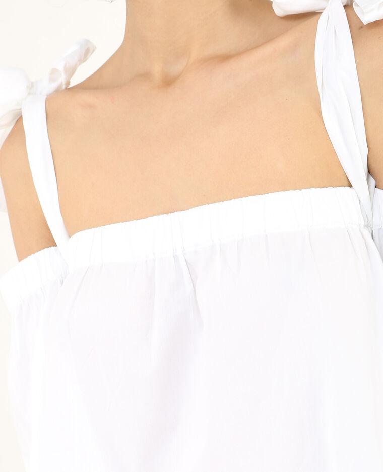 Blouse bustier à nœuds blanc