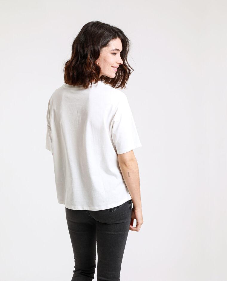 T-shirt imprimé blanc cassé - Pimkie