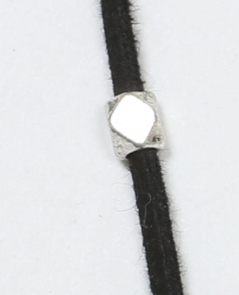 Collier multi-rangs noir