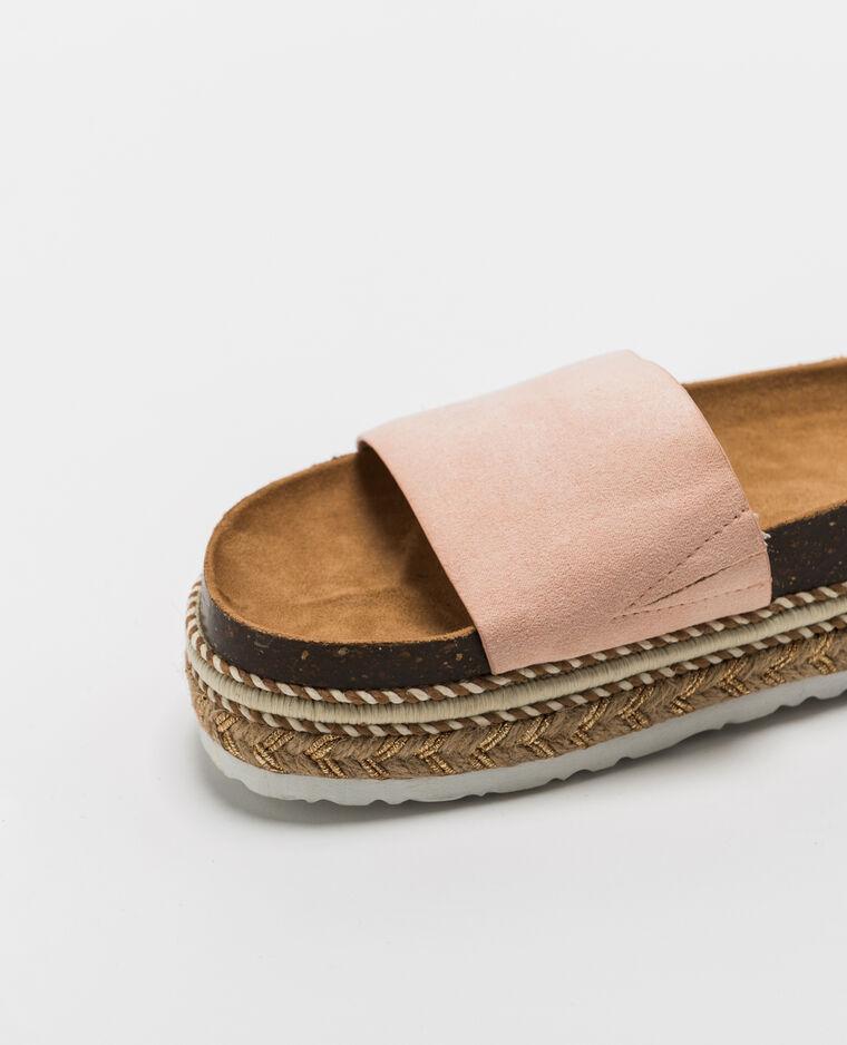 Sandales à plateforme rose