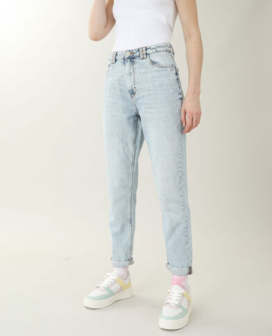 Jean mom high waist bleu clair - Pimkie