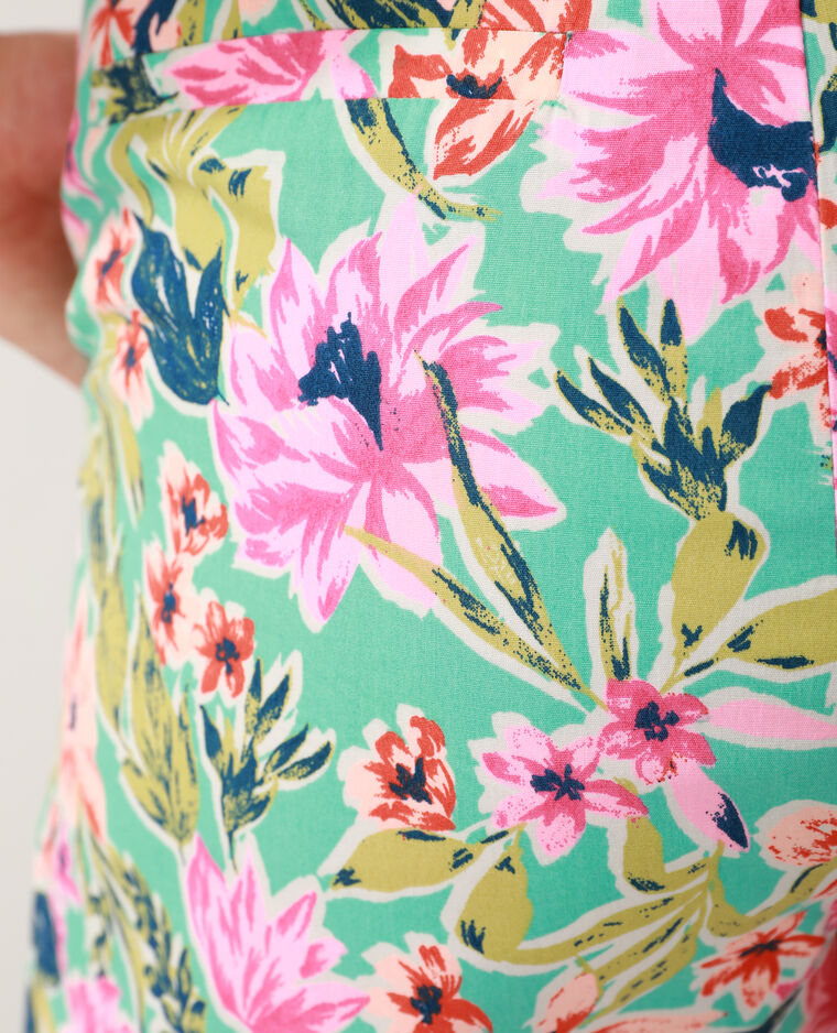 Short fleuri turquoise - Pimkie