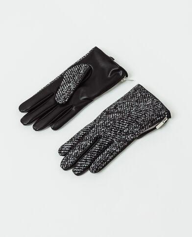 Gants à zip noir