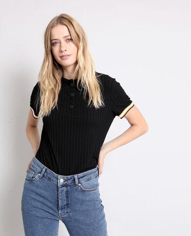 T-shirt polo noir