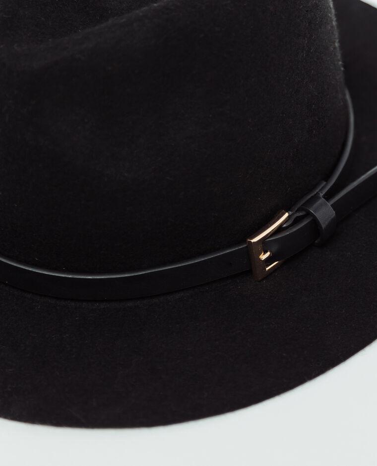 Chapeau en feutrine noir