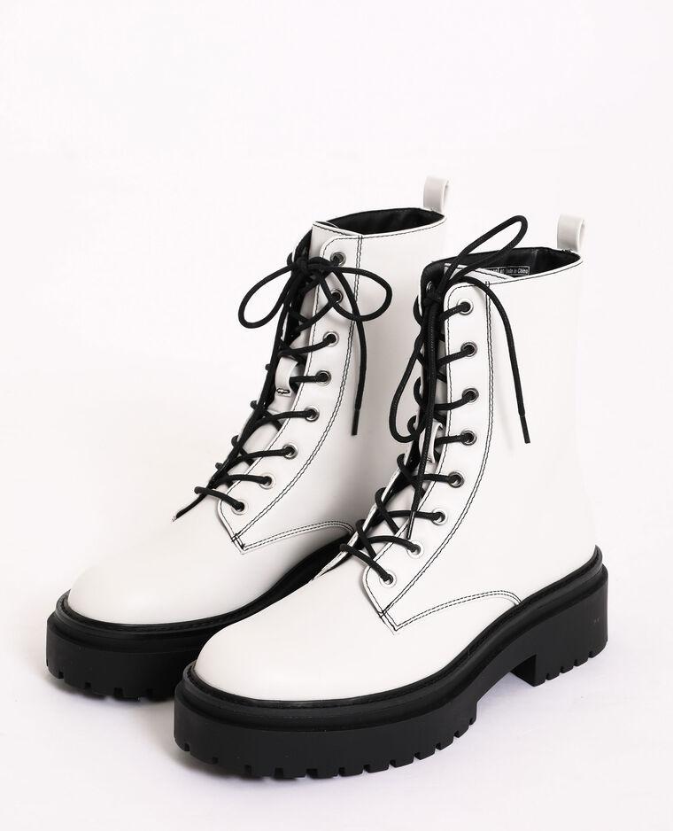 Boots rock blanc - Pimkie