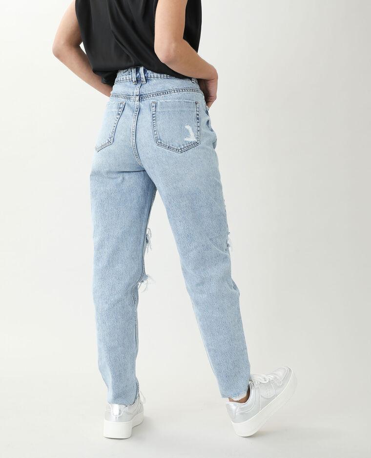 Jean mom high waist bleu clair