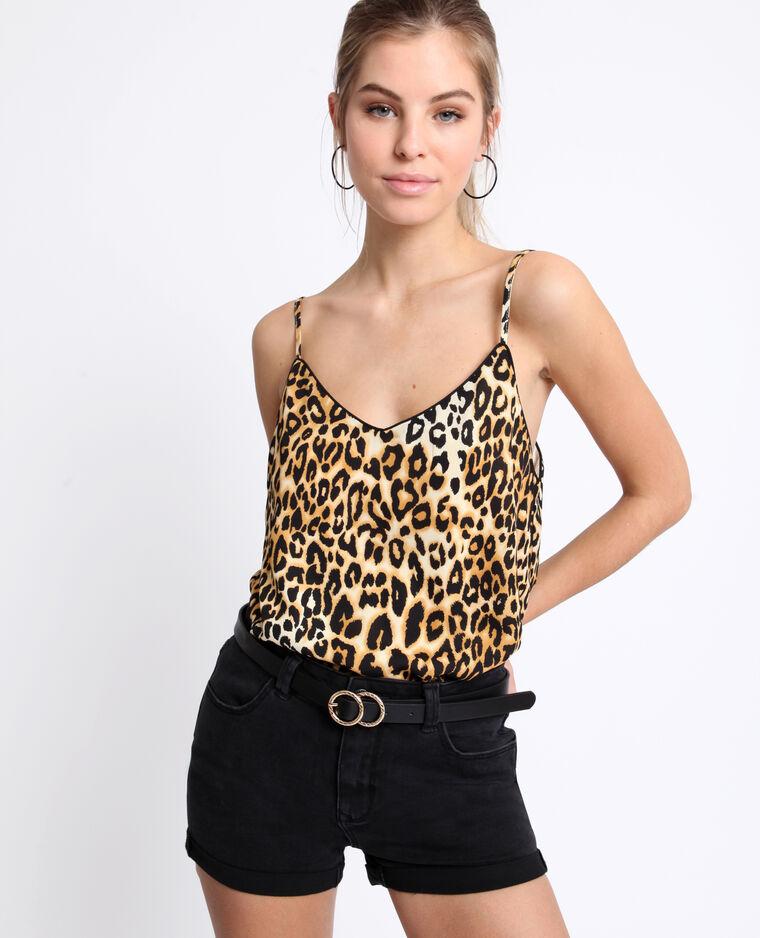 Top léopard caramel