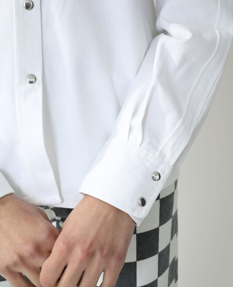 Chemise pressionnée blanc - Pimkie