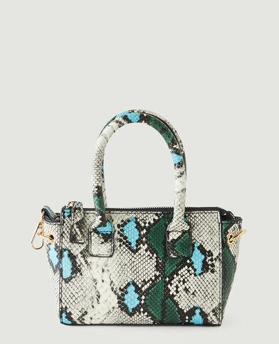 Petit sac à main reptile bleu - Pimkie