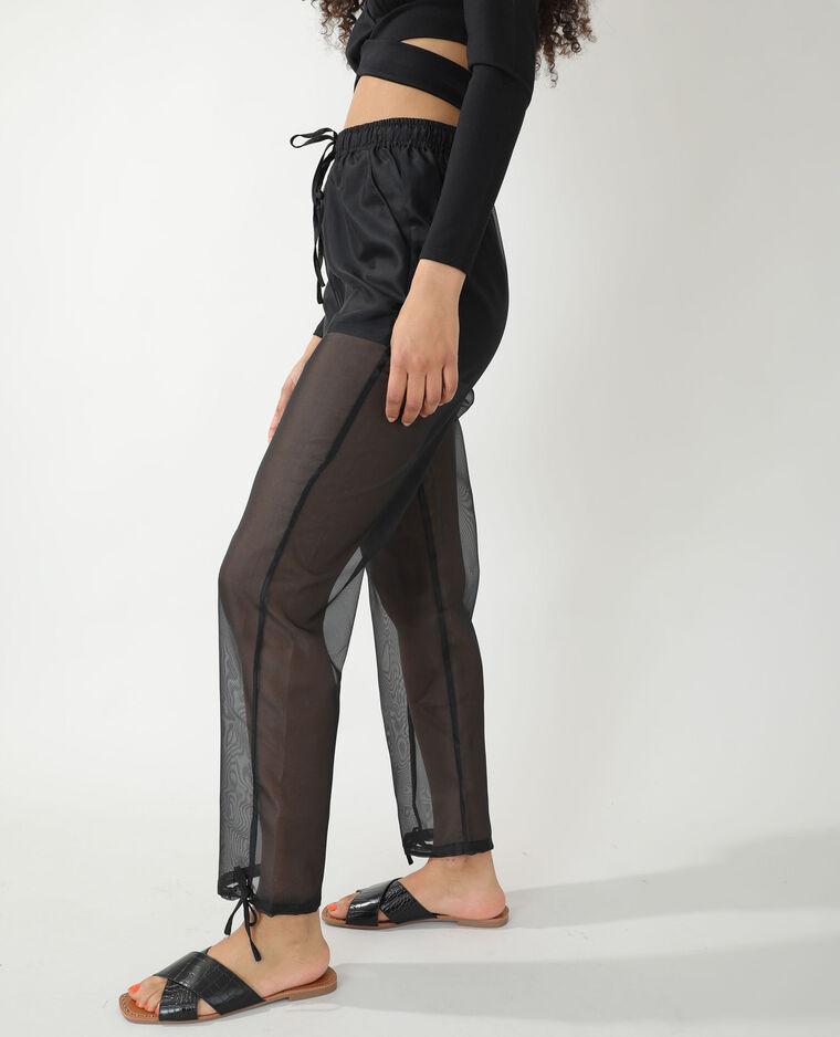 Pantalon transparent noir - Pimkie